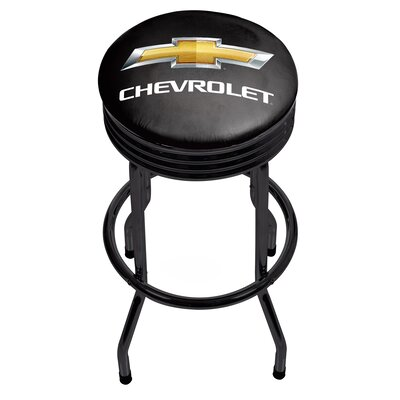 Chevrolet Ribbed 29 Swivel Bar Stool Finish: Black
