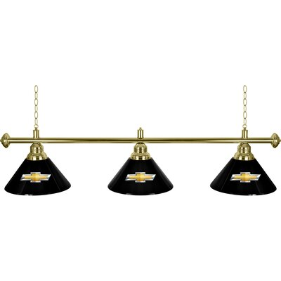 Chevrolet 3 Shade 3-Light Pool Table Light