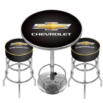 Chevrolet Game Room Combo 3 Piece Pub Table Set