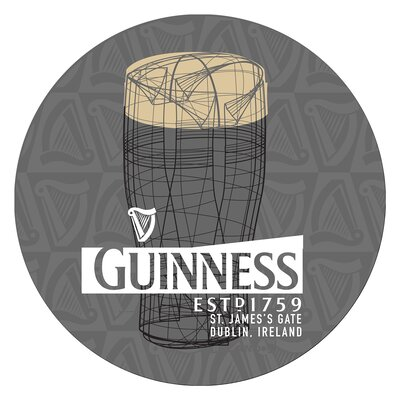 Guinness Line Art Pint 31 Swivel Bar Stool