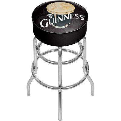 Guinness Smiling Pint 31 Swivel Bar Stool