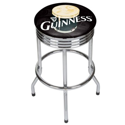 28.5 Swivel Bar Stool Finish: Chrome
