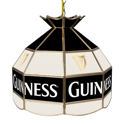 Guinness Stained Glass 1-Light Bowl Pendant