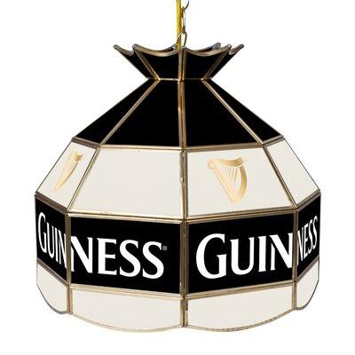 Guinness Stained Glass 1-Light Bowl Pendant