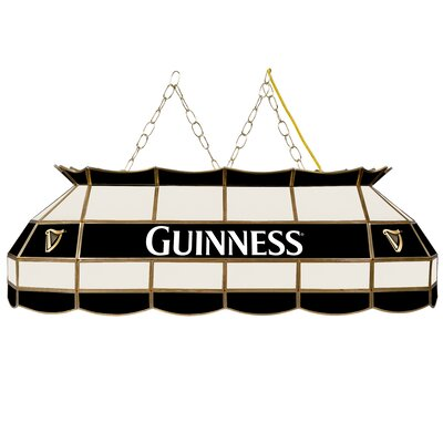Guinness Stained Glass 3-Light Pool Table Light