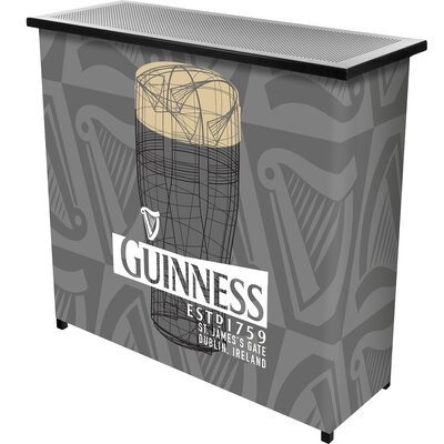 Guinness Line Art Pint Portable Home Bar