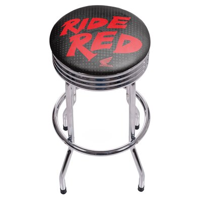 Honda Chrome Ribbed Bar Stool