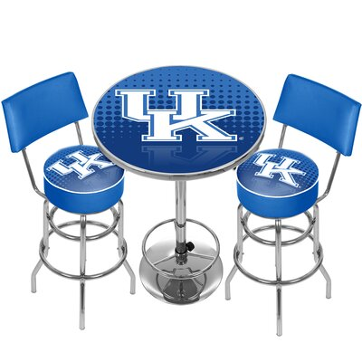 NCAA Game Room Combo 3 Piece Pub Table Set NCAA Team: University of Kentucky