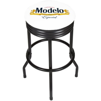 Modelo Ribbed 28.5 Swivel Bar Stool Finish: Black