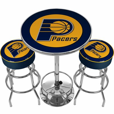 NBA Miami Heat Game Room Combo 3 Piece Pub Table Set NBA Team: Indiana Pacers