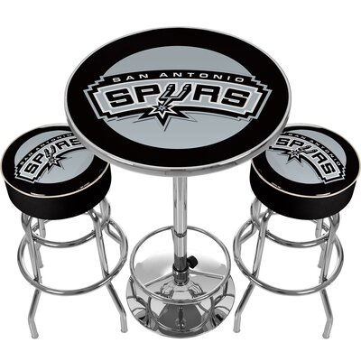 NBA Miami Heat Game Room Combo 3 Piece Pub Table Set NBA Team: San Antonio Spurs