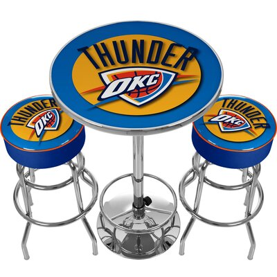 NBA Miami Heat Game Room Combo 3 Piece Pub Table Set NBA Team: Oklahoma City Thunder