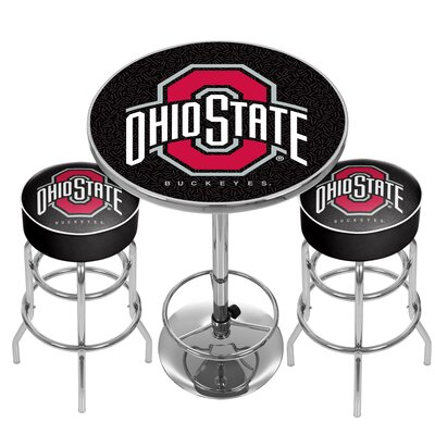 NCAA Game Room Combo Pub Table NCAA Team: Ohio State University
