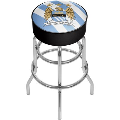 English Premier League 31 Swivel Bar Stool Premier League Team: Manchester City
