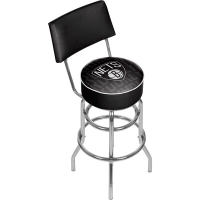 NBA 31 Swivel Bar Stool NBA Team: Brooklyn Nets