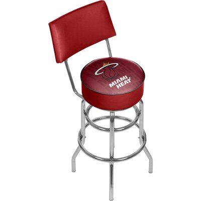 NBA 31 Swivel Bar Stool NBA Team: Miami Heat