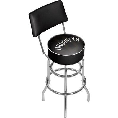 NBA Fade 31 Swivel Bar Stool NBA Team: Brooklyn Nets