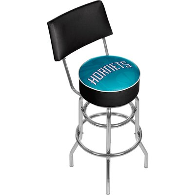 NBA Fade 31 Swivel Bar Stool NBA Team: Charlotte Hornets