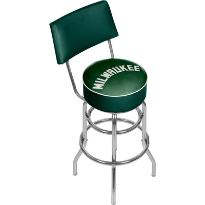 NBA Fade 31 Swivel Bar Stool NBA Team: Milwaukee Bucks
