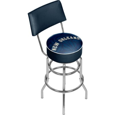 NBA Fade 31 Swivel Bar Stool NBA Team: New Orleans Pelicans
