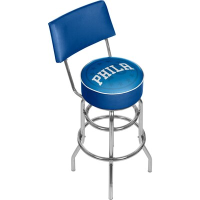 NBA Fade 31 Swivel Bar Stool NBA Team: Philadelphia 76ers