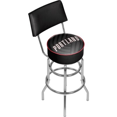 NBA Fade 31 Swivel Bar Stool NBA Team: Portland Trailblazers