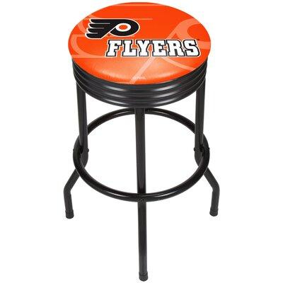 "NHL Ribbed 28.5"" Swivel Bar Stool Finish: Black, NHL Team: Philadelphia Flyers NHL1006-PF"