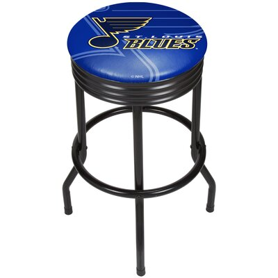 NHL Ribbed 28.5 Swivel Bar Stool NHL Team: St. Louis Blues, Finish: Black