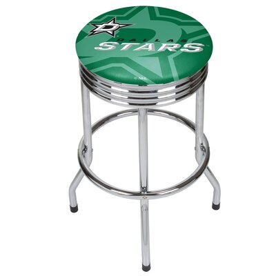 NHL Ribbed 28.5 Swivel Bar Stool NHL Team: Dallas Stars, Finish: Chrome