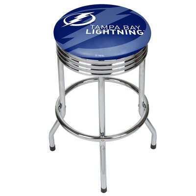 NHL Ribbed 28.5 Swivel Bar Stool NHL Team: Tampa Bay Lightning, Finish: Chrome