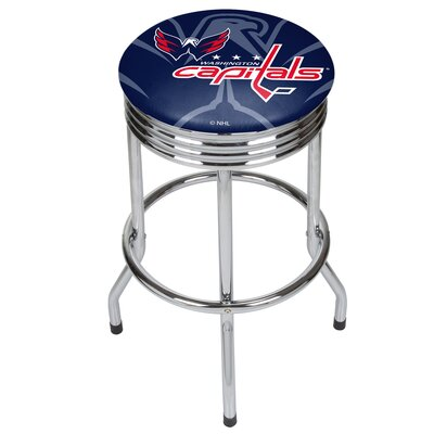 NHL Ribbed 28.5 Swivel Bar Stool NHL Team: Washington Capitals, Finish: Chrome