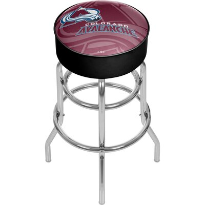 NHL Watermark Swivel Bar Stool NHL Team: Colorado Avalanche