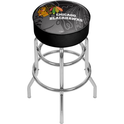 NHL Watermark Swivel Bar Stool NHL Team: Chicago Blackhawks