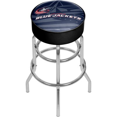 NHL Watermark Swivel Bar Stool NHL Team: Columbus Blue Jackets