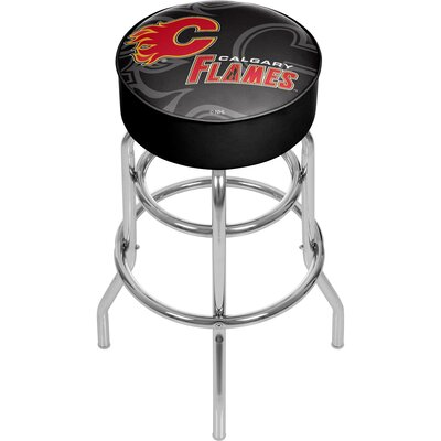 NHL Watermark Swivel Bar Stool NHL Team: Calgary Flames