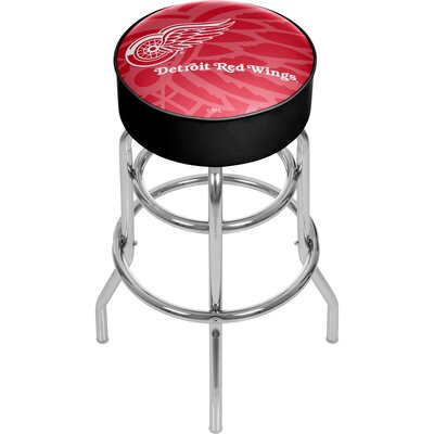 NHL Watermark Swivel Bar Stool NHL Team: Detroit Red Wings