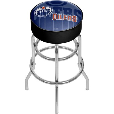 NHL Watermark Swivel Bar Stool NHL Team: Edmonton Oilers