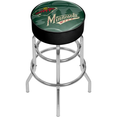 NHL Watermark Swivel Bar Stool NHL Team: Minnesota Wild
