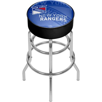 NHL Watermark Swivel Bar Stool NHL Team: New York Rangers