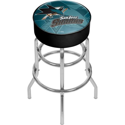 NHL Watermark Swivel Bar Stool NHL Team: San Jose Sharks