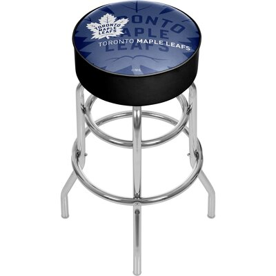 NHL Watermark Swivel Bar Stool NHL Team: Toronto Maple Leafs