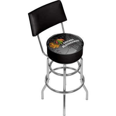 NHL Watermark 31 Swivel Bar Stool NHL Team: Chicago Blackhawks
