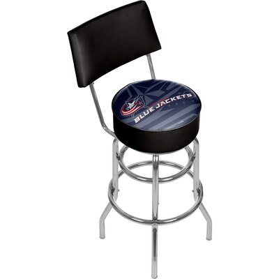 NHL Watermark 31 Swivel Bar Stool NHL Team: Columbus Blue Jackets