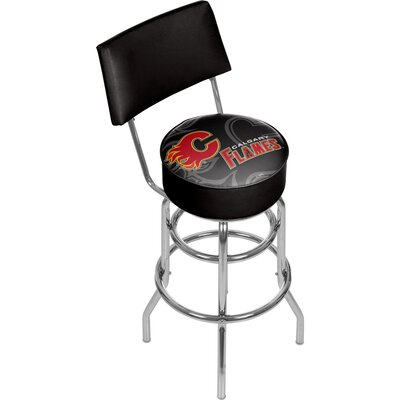 NHL Watermark 31 Swivel Bar Stool NHL Team: Calgary Flames