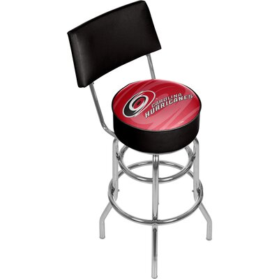 NHL Watermark 31 Swivel Bar Stool NHL Team: Carolina Hurricanes