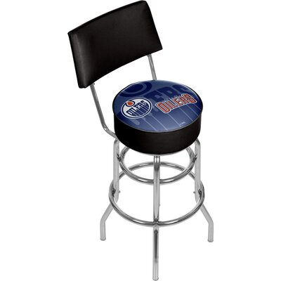 NHL Watermark 31 Swivel Bar Stool NHL Team: Edmonton Oilers