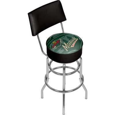 NHL Watermark 31 Swivel Bar Stool NHL Team: Minnesota Wild