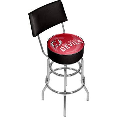 NHL Watermark 31 Swivel Bar Stool NHL Team: New Jersey Devils