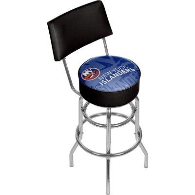 NHL Watermark 31 Swivel Bar Stool NHL Team: New York Islanders