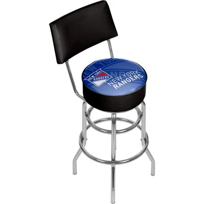 NHL Watermark 31 Swivel Bar Stool NHL Team: New York Rangers